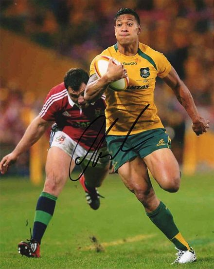 Israel Folau, Australia, signed 10x8 inch photo.